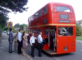 Double deck Routemaster wedding Bus in Rochester